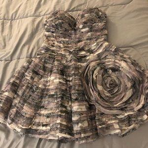 Diane Von Furstenberg Mini Ruffled Dress